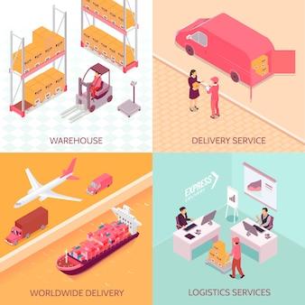 Logistieke services isometrisch