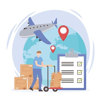 Logistieke transportwereld