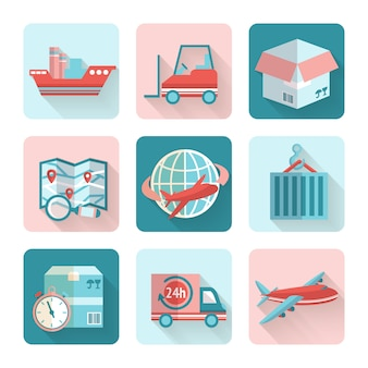 Logistieke vlakke elementen