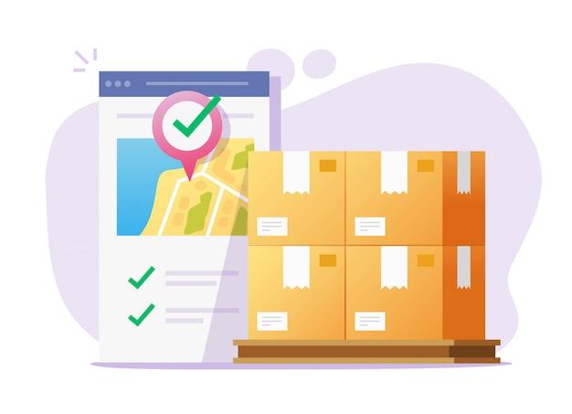 Logistieke vracht mobiele app-koerier online voor vrachtbezorgservice transport via smartphone-telefoon