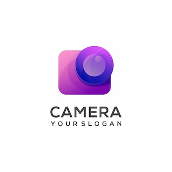 Logo afbeelding camera kleurrijke verloop