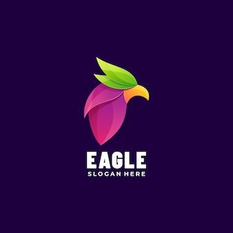 Logo afbeelding eagle kleurovergang kleurrijke stijl.