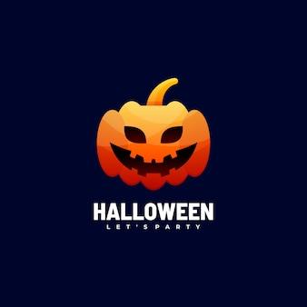 Logo afbeelding halloween kleurovergang kleurrijke stijl.