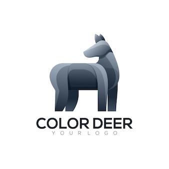 Logo afbeelding herten kleurrijke stijl