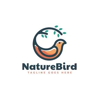 Logo afbeelding natuur vogel eenvoudige mascotte stijl