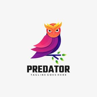 Logo afbeelding predator kleurovergang kleurrijke stijl.