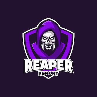 Logo afbeelding reaper e-sport en sport stijl.