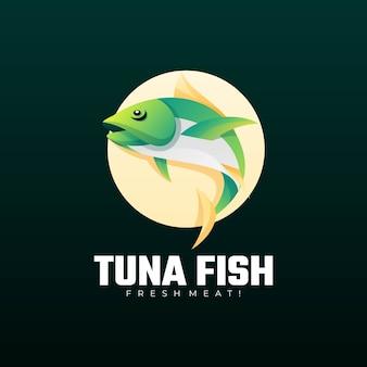 Logo afbeelding tonijn kleurovergang kleurrijke stijl.