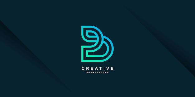 Logo b met creatief uniek concept voor bedrijfspersoon technologie vector deel 8