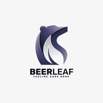Logo bear gradient kleurrijke stijl.