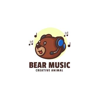 Logo beer muziek mascotte cartoon stijl
