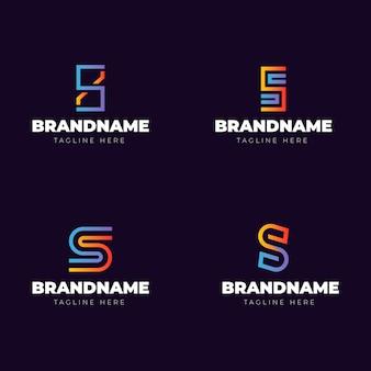Logo-collectie met kleurverloop