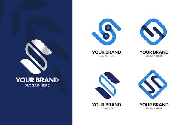 Logo-collectie van plat ontwerp