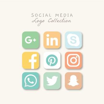 Logo-collectie van sociale media