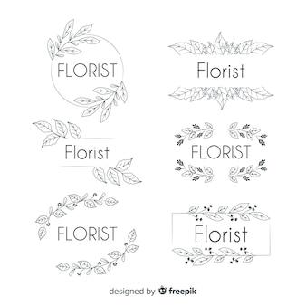 Logo-collectie voor bruiloft bloemist