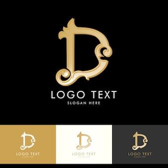 Logo d, monogram d, goud, vector d, logo ontwerp
