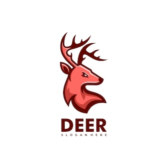 Logo deer gradient kleurrijke stijl.