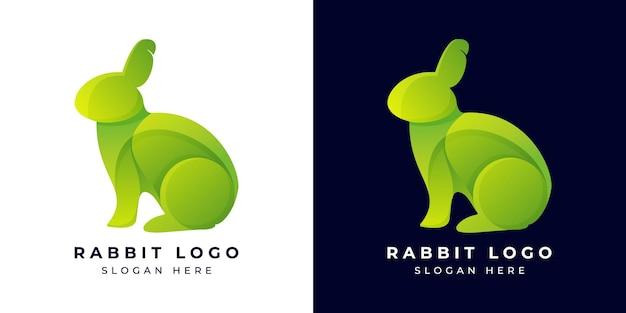 Logo design modern rabbit kleurrijk of gradiënt