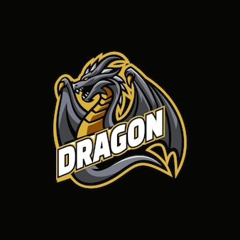 Logo dragon e-sport-stijl.