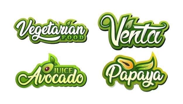 Logo drinken voedselsap fruit