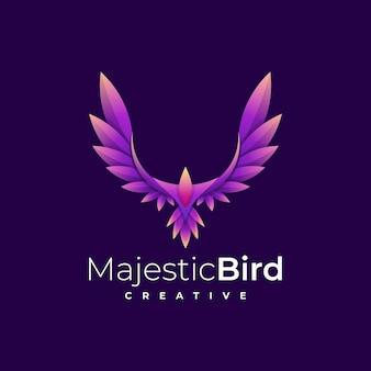 Logo eagle gradient kleurrijke stijl.