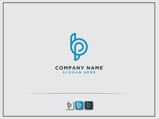 Logo eerste ontwerp van de letter bp