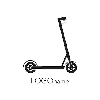 Logo elektrische scooter vector graphics