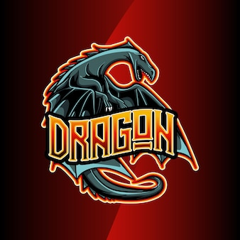 Logo esport drakenkarakter