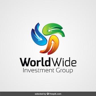 Logo gemaakt met abstracte pijlen