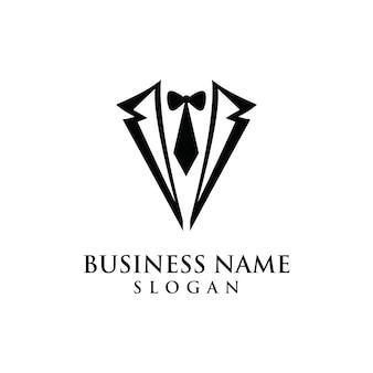 Logo grafisch moderne vormsymbool van de smoking