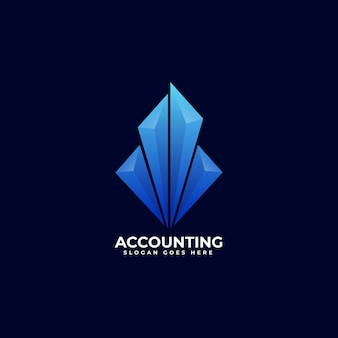 Logo illustratie boekhoudkundige gradiënt kleurrijke stijl