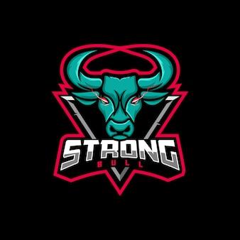 Logo illustratie bull gaming