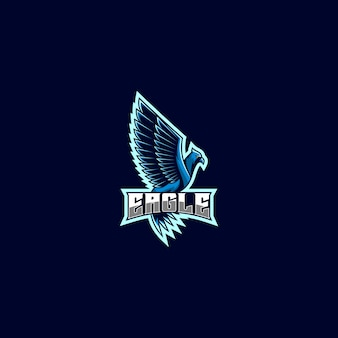 Logo illustratie eagle gaming