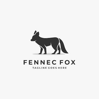 Logo illustratie fox elegante silhouetstijl