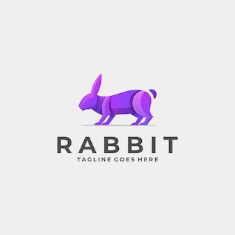 Logo illustratie konijn stelt kleurverloop