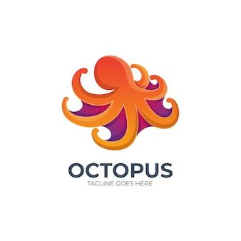 Logo illustratie octopus kleurrijk kleurverloop