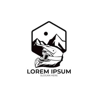 Logo illustratie van motorcross