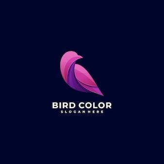 Logo illustratie vogel kleurrijke stijl.