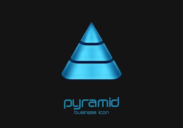 Logo in de vorm van een piramide-ontwerpsjabloon