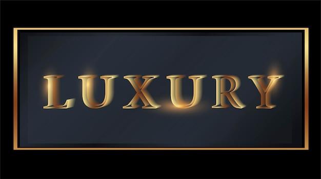 Logo initialen plaat de naam van het bedrijf typografie gouden luxe productlabel web icon