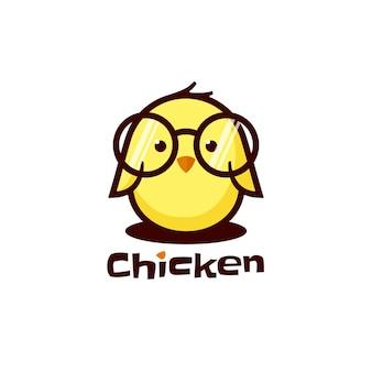 Logo kip eenvoudige mascotte stijl.