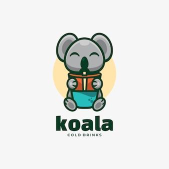 Logo koala eenvoudige mascotte stijl.