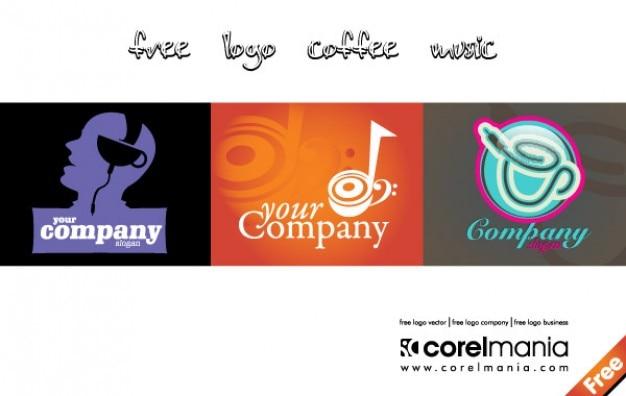 Logo kopje koffie muziek