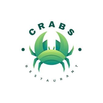 Logo krabben kleurovergang kleurrijke stijl.