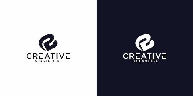 Logo letther bp grafisch ontwerp voor andere toepassingen is zeer geschikt