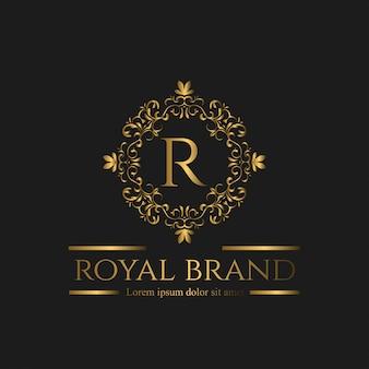 Logo luxe met gouden kleur