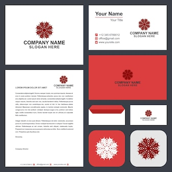 Logo mandala ornament en visitekaartje