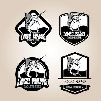 Logo marlijn vis, visserij badge