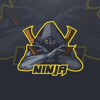 Logo mascotte ninja assassin esports team of club illustratie.