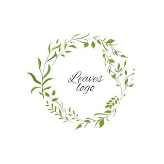 Logo met bladeren